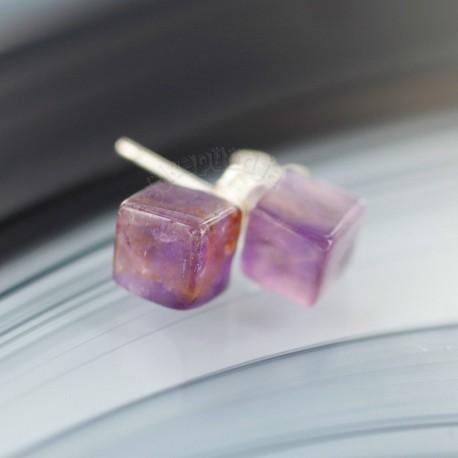 Ametüst kõrvarõngad 6mm