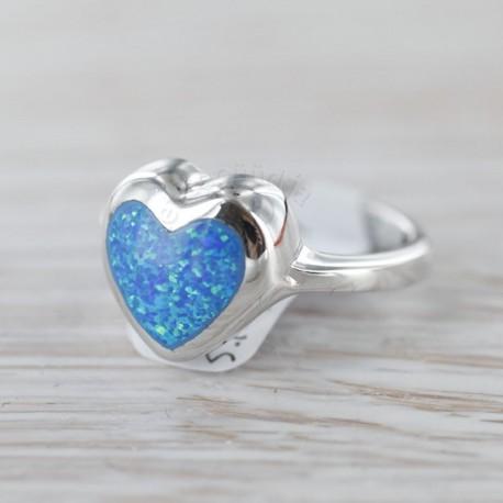 Sünteetilise opaaliga sõrmus 16,15