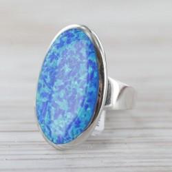 Sünteetilise opaaliga sõrmus 17