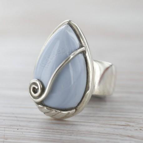 Andide sinise opaaliga sõrmus 17