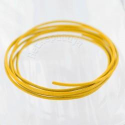 Helekollane pärlmutter nahkpael 1mm