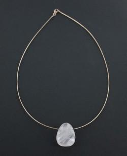 Roosa kullaga hõbekett 45cm