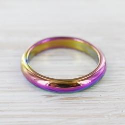 Hematiit sõrmus värviline