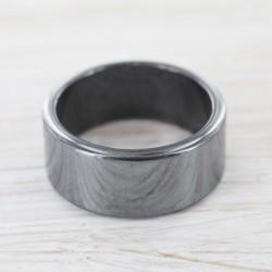 Hematiit sõrmus lai ja...