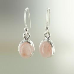 Andide roosa opaal kõrvarõngad